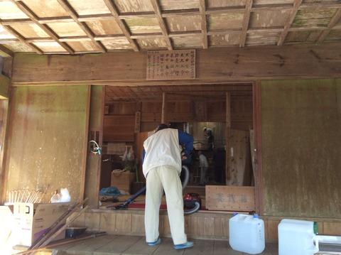 種穂神社清掃