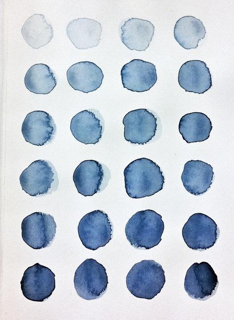 藍色工房 藍墨の色