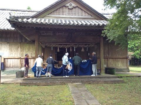 種穂神社例祭準備