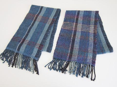 手織りマフラー11