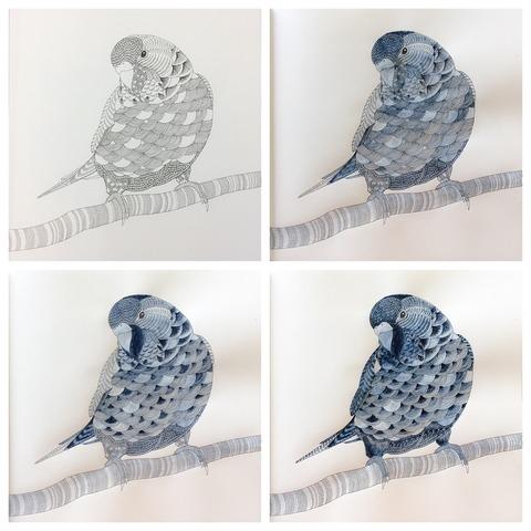 藍墨の青い鳥が完成するまで