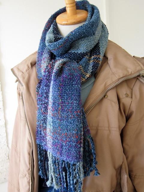 手織りマフラー6