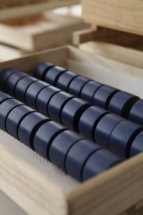 藍色工房 石けんを乾燥させているところ