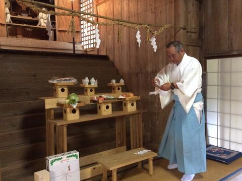 種穂神社例祭準備3