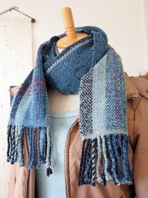 手織りマフラー1