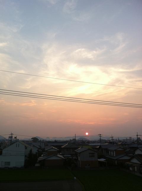藍色工房 夏の夕焼け