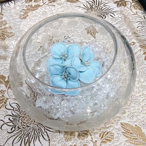 藍染め紫陽花コサージュ
