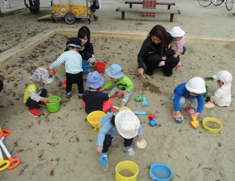 明石 保育園分園 砂遊び