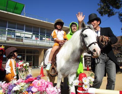 明石 保育園 体験乗馬
