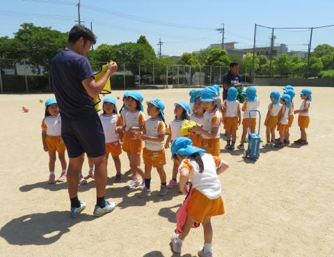 明石 保育園 サッカー教室1