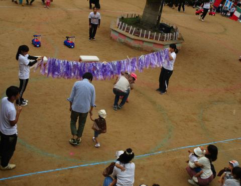 明石 保育園 運動会1歳児 (3)