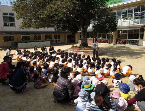 明石 保育園 避難訓練3