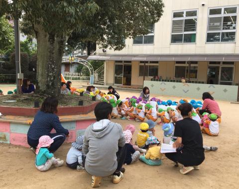 明石 保育園 避難訓練1