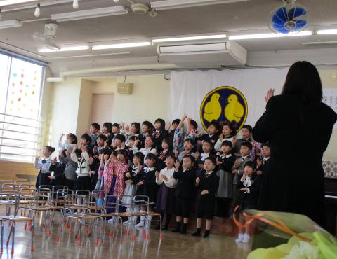 明石 保育園 卒園式2