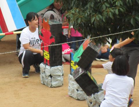 明石 保育園 運動会2歳 (3)