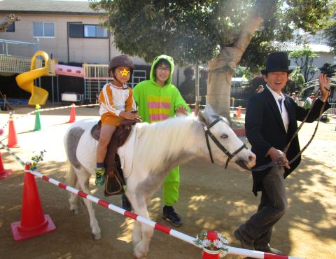 明石 保育園 体験乗馬1