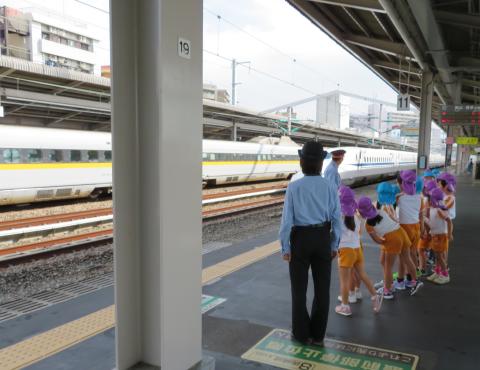 明石 保育園 新幹線1