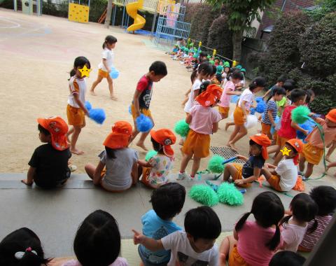明石 保育園 運動会練習3