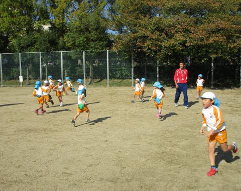 明石 保育園 サッカー教室