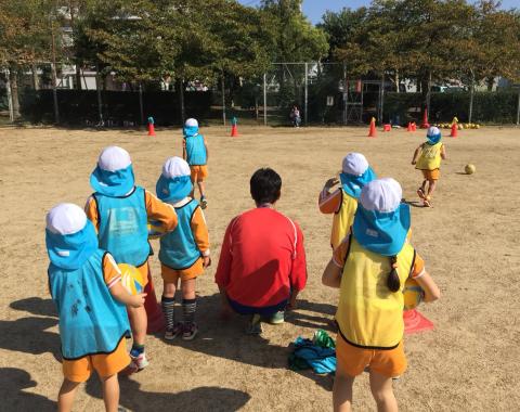 明石 保育園 サッカー教室4
