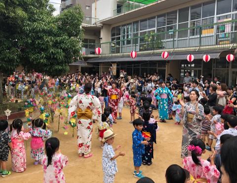 明石 保育園 盆踊り1