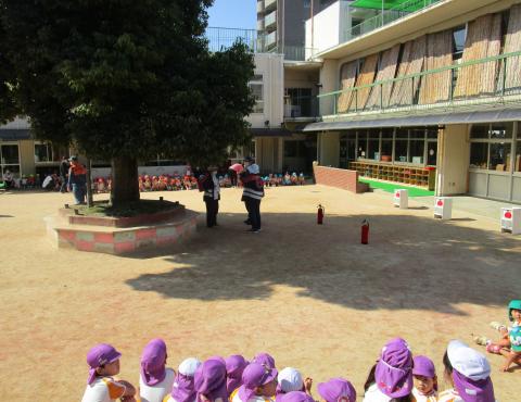 明石 保育園 消防訓練