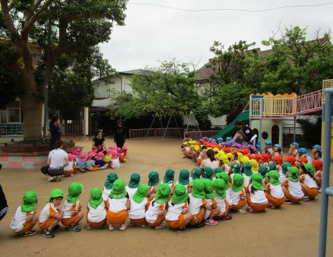 明石 保育園 避難訓練