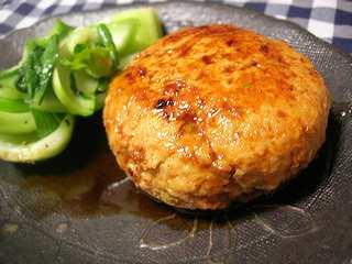 高野豆腐入りチキンバーグ