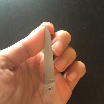 無印良品折りたたみ爪やすり4