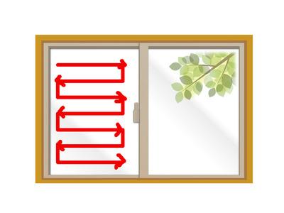 窓の拭き方