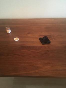 ウォールナットの家具をオイルでお手入れ5