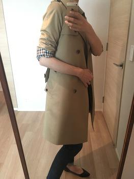 トレンチコート袖のまくり方6