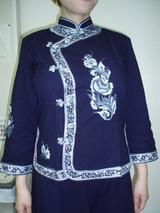 藍染の旗袍