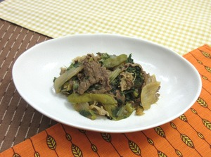 牛肉と玉葱のオイスターソース201018