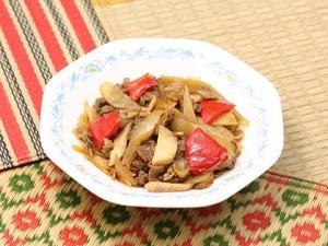 牛肉の生姜醤油炒め170506