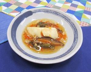 蒸し魚の甘酢あんかけ201025