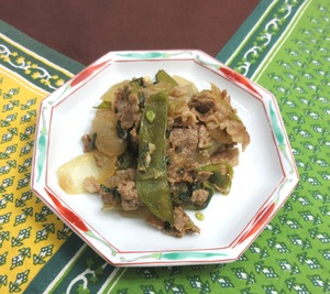 牛肉と玉葱のオイスター炒め210109