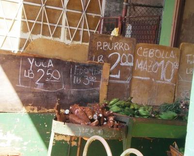 Agromercadoの店先
