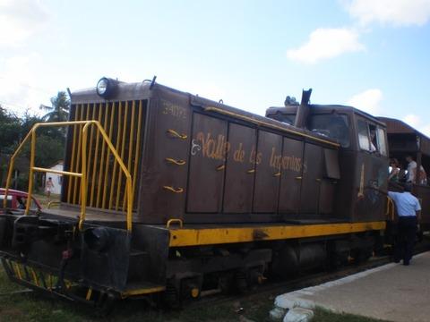 ロス・インヘニオス渓谷_列車1