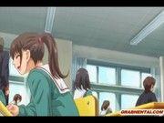 【エロアニメ】優しかったお兄ちゃんが学校でハードにセクロスするのでびっくりしておもらししちゃっ...