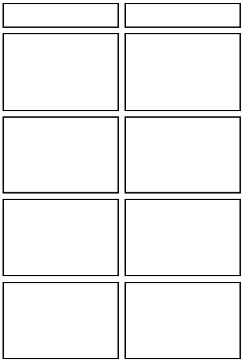 四コマ漫画用テンプレート(jpg)