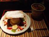 アイスクリームといちごのミルフィーユ
