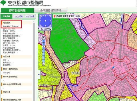 渋谷の用途地域