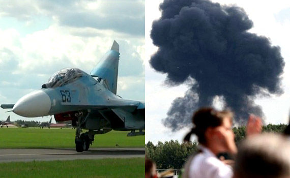 Su-27UB_crash