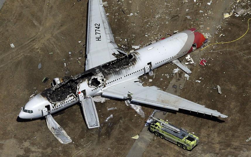 国際空港「アシアナ航空214 ...