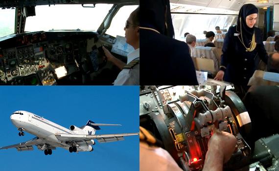 Iran-Air-B727-200---Cockpit-Video