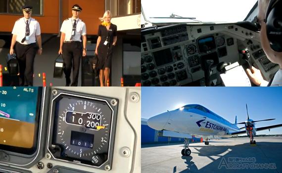 Estonian-Air-Regional-SAAB-340---Cockpit