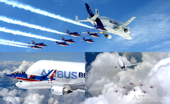 Beluga-and-the-Patrouille-de-France