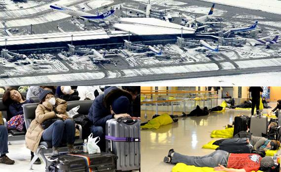 飛行機ちゃんねる(Aircraft Channel) : 8日の記録的な大雪で鉄道・高速バス全てが運休、成田空港は「陸の孤島」に。約8200人が空港で一夜を明かす