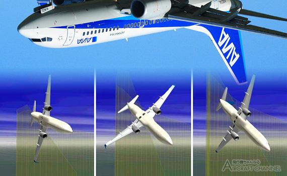 Inverted flight_737_ana